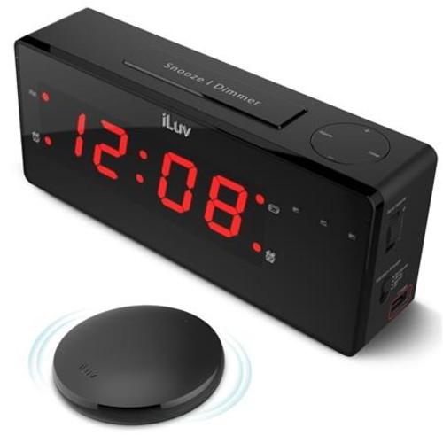 iLuv TimeShaker Boom Jumbo LED Dual Alarm Clock TSBOOMULBK