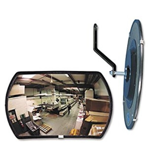 See All RR1218 Round Rectangular Glass Indoor Convex Security Mirror, 18