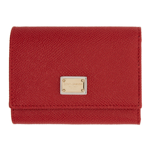 DOLCE & GABBANA Red Small Foldover Wallet
