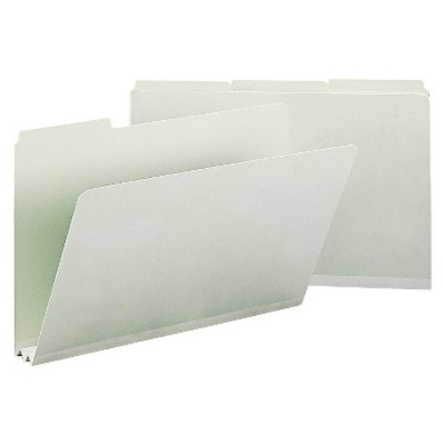 Smead Recycled Folders, Two Inch Expansion, 1/3 Top Tab, Legal, Gray Green, 25/Box
