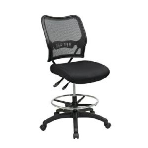 Space Seating Deluxe Black AirGrid Back Drafting Chair