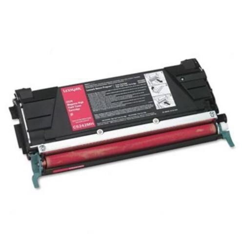 Lexmark C5242MH Toner Cartridge, High-Yield; Magenta