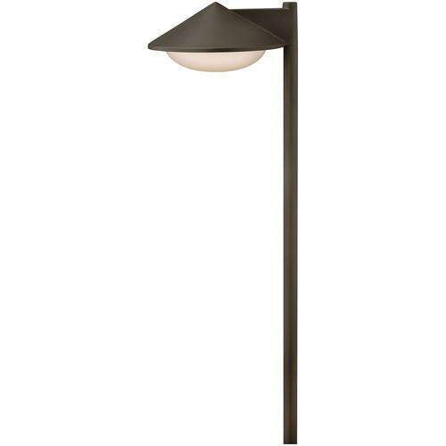 Contempo Path Light [Shade Color : Etched Opal; Finish : Bronze; Light Option : Halogen]