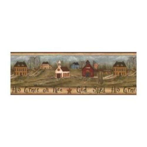 York Wallcoverings Best of Country God Shed HIs Grace Wallpaper Border