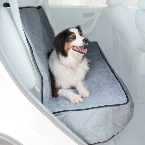 K&H Pet Products Quilted Car Seat Cover Extra Long Gray 57