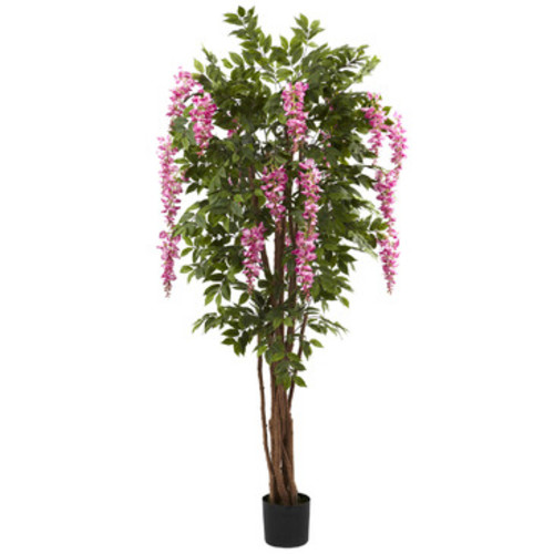 Nearly Natural 6.5' Wisteria Silk Tree