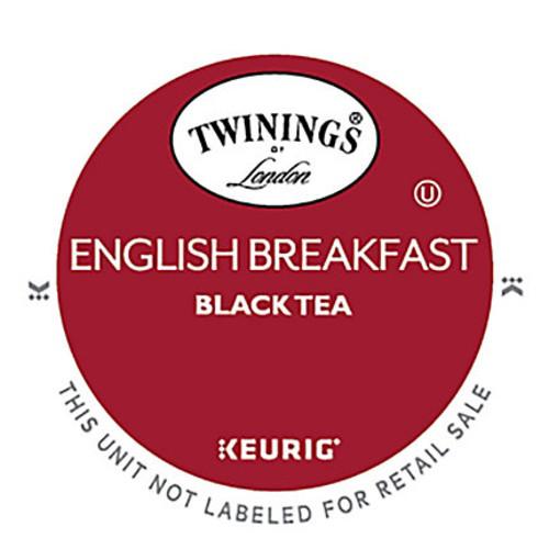 Twinings English Breakfast Tea K-Cups, 0.11 Oz, Box Of 24