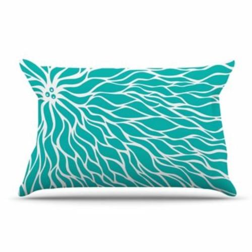 East Urban Home NL Designs 'Swirls Teal' Pillow Case; Teal