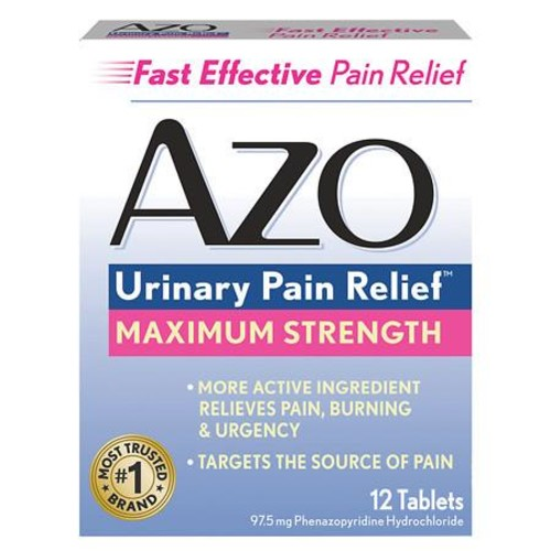 AZO Maximum Strength Urinary Pain Relief Tablets