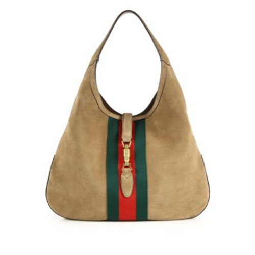GUCCI Jackie Soft Large Suede Hobo