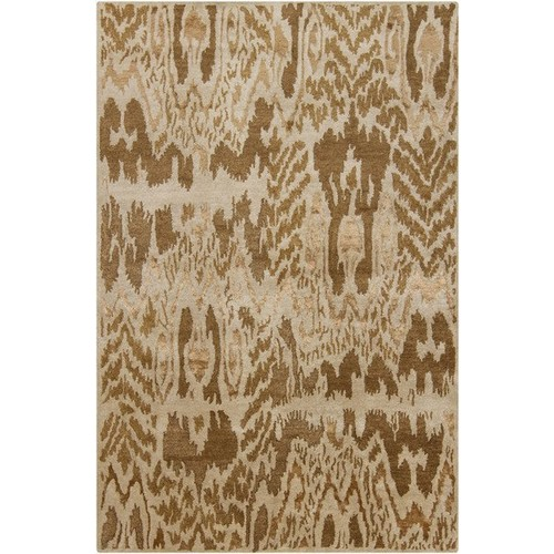 Rupec Collection Wool and Viscose Area Rug in Gold and Beige design by Chandra rugs - 5' x 7' 6\