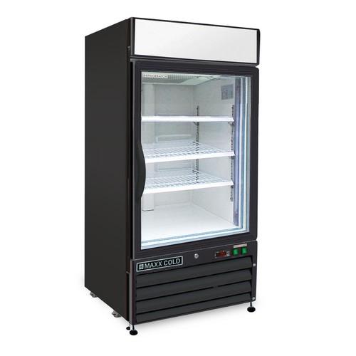 Maxx Cold X-Series 12 cu. ft. Single Door Merchandiser Refrigerator in Black