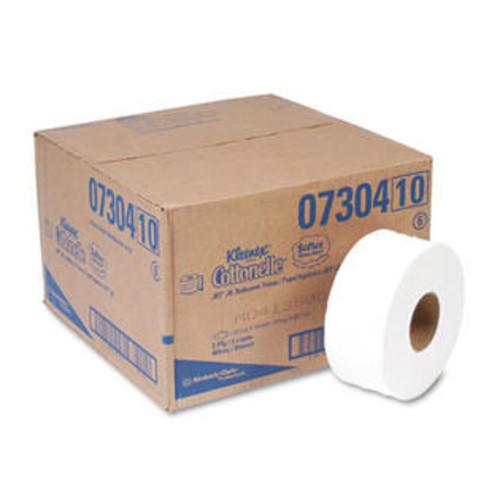 KIMBERLY-CLARK PROFESSIONAL KLEENEX COTTONELLE JRT Jr. Roll Tissue, 2-Ply, 7.9dia, 750ft, 12/Carton