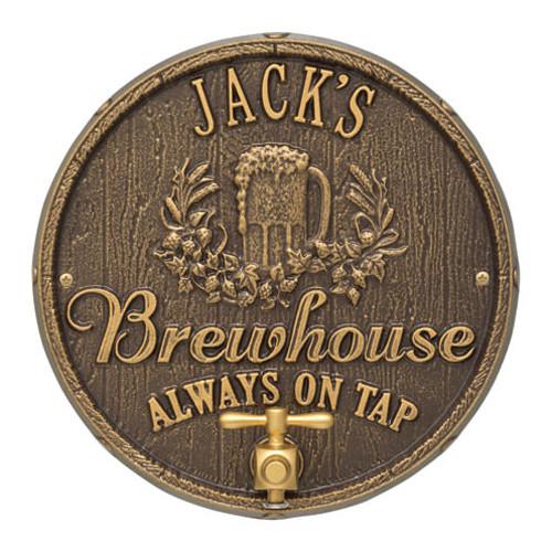 Whitehall Oak Barrel Beer Pub Plaque
