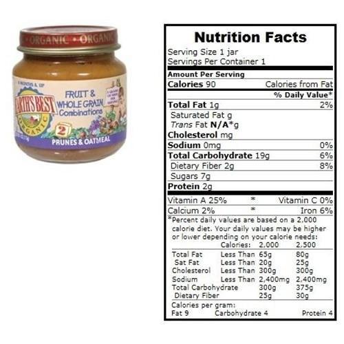 Prunes & Oatmeal, Og, 4 oz (pack of 12 )