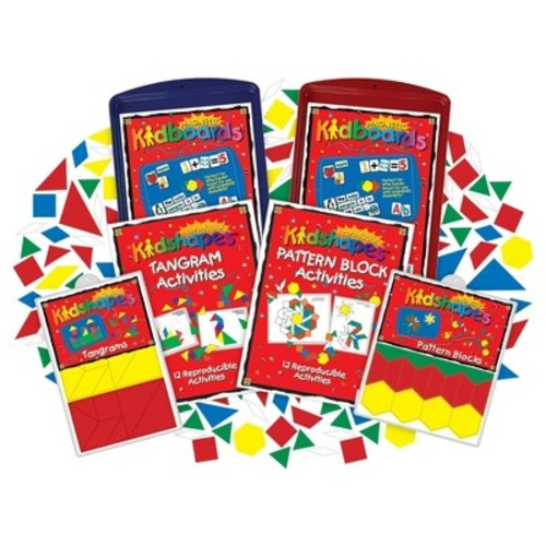 Barker Creek KidBoards Magnets - Pattern Block & Tangram Activity Set