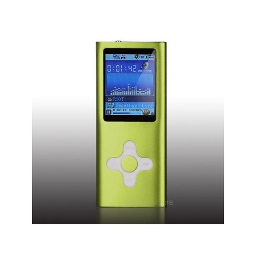8GB 8G Slim Mp3 Mp4 Mp5 Player with 1.8 LCD Screen, FM Radio, Games & Movie --green