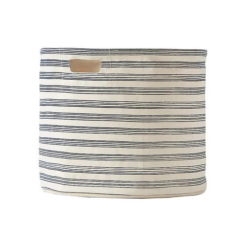 Stripe Drum Bin, Navy/Beige