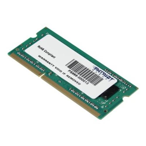 Patriot Memory Signature 4GB DDR3 1600MHZ (PC3-12800) SODIMM (PSD34G160081S)