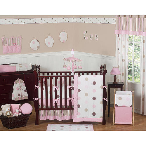 Sweet Jojo Designs Pink and Chocolate Mod Dots Collection Window Panels