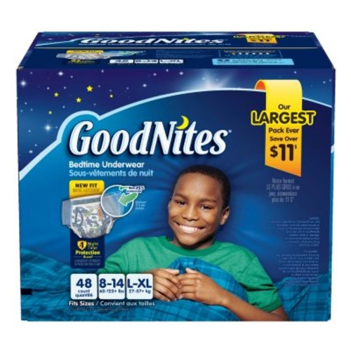 GoodNites Bedtime Underwear for Boys [OriginalSize : Size 8-14 Boys - 48 ct.]