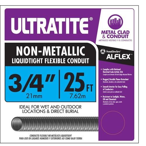 Southwire 3/4 in. x 25 ft. Ultratite Liquidtight Flexible Non-Metallic PVC Conduit