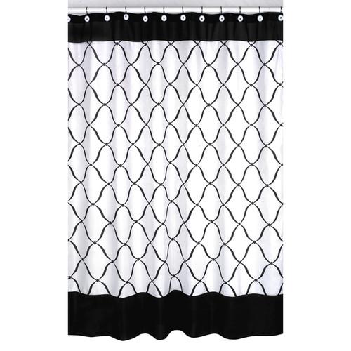 Sweet Jojo Designs Black and White Shower Curtain
