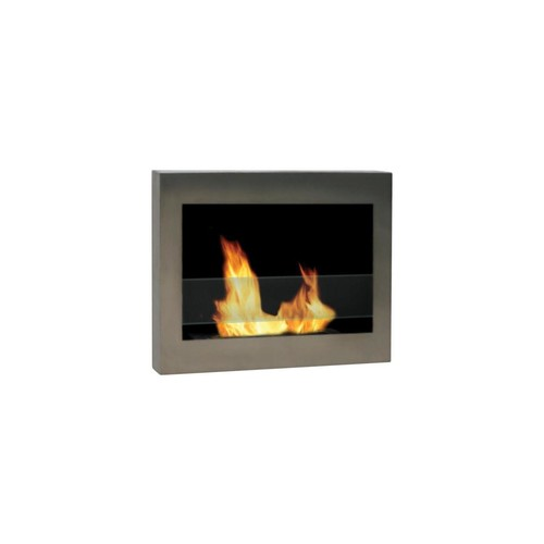 Anywhere Fireplace SoHo Stainless Wall Mount Fireplace 27.5