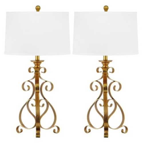 Safavieh Scroll Sculpture Table Lamp (Set of 2)