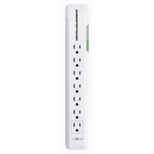 Monster Just Power It Up 4 ft. L 7 outlets Surge Protector White(VSOC7OUTSRGWHT)