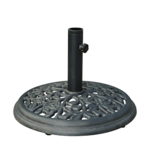 Sunjoy Black Cast Iron Umbrella Base