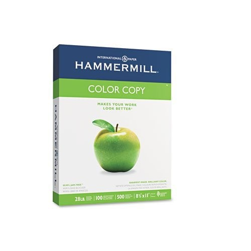 Hammermill - Color Copy/Laser Paper, Photo White, 100 Brightness, 28lb, Letter, 500 Sheets - Pack of 15