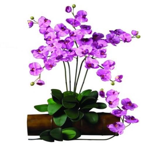 31.5 in. H Mauve Phalaenopsis Stem (Set of 12)
