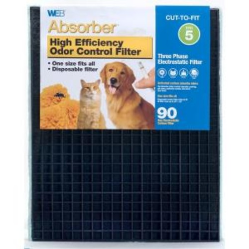 Web 20 in. x 25 in. x 1 in. Absorber Odor Control FPR 5 Air Filter