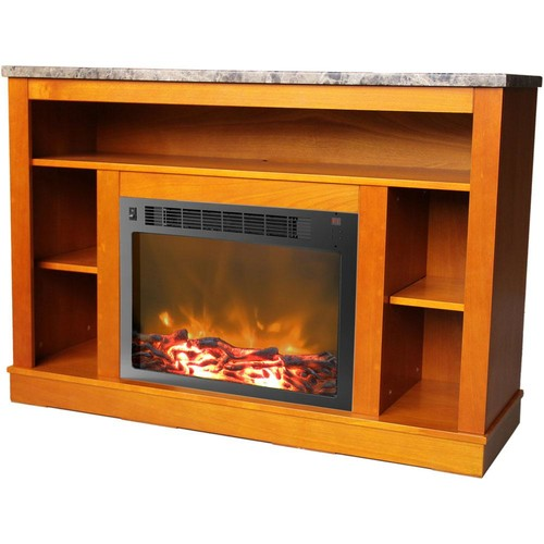 Cambridge Seville 34 in. Electric Fireplace in Teak