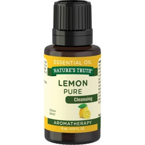 Nature's Truth Aromatherapy Lemon Essential Oil, 0.51 Fl Oz
