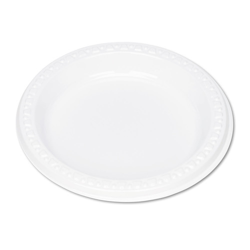 Tablemate TBL6644WH Plastic Dinnerware, Plates, 6