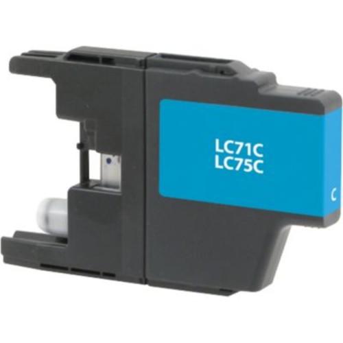 Staples Remanufactured Cyan Ink Cartridge, Brother LC75C (SIB-RLC75C), High Yield