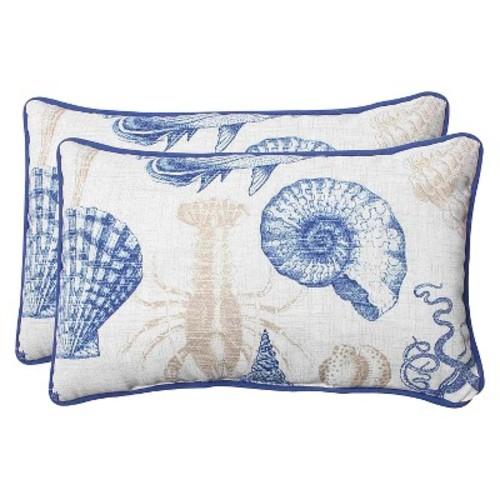 Outdoor 2-Piece Lumbar Throw Pillow Set - Sealife