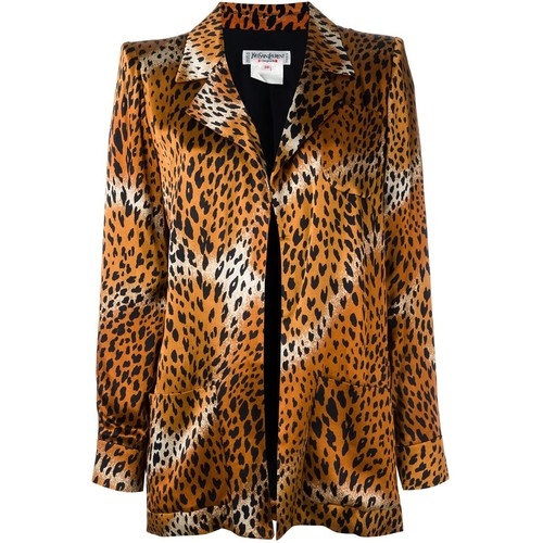 YVES SAINT LAURENT VINTAGE Cheetah Printed Jacket