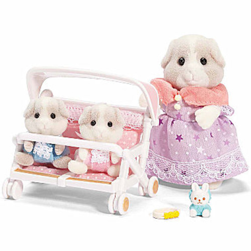 Calico Critters Patty & Padens Double StrollerSet