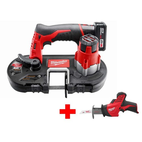 Milwaukee M12 12-Volt Lithium-Ion Cordless Sub-Compact Band Saw XC Kit with Free M12 Hackzall