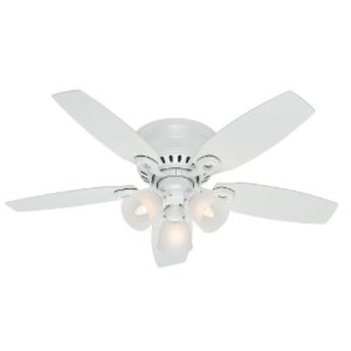 Hunter Fan Company 52087 Hatherton 46-Inch Snow White Ceiling Fan with Five Snow White Blades and a Light Kit