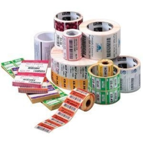 Zebra Technologies 8000D Near IR - Perforated coated permanent acrylic adhesive paper labels - white - 4 in x 8 in 1240 label(s) ( 4 roll(s) x 310 ) - for Desktop GX420, GX430; G-Series (10010061)