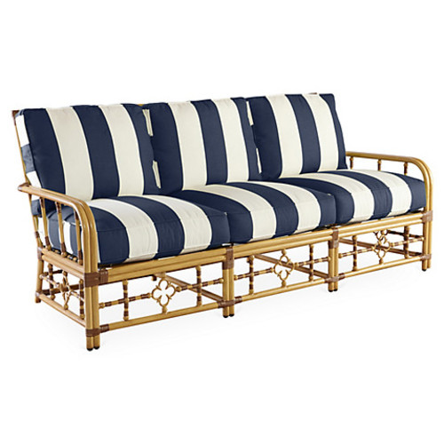 Mimi Sofa, Navy Stripe