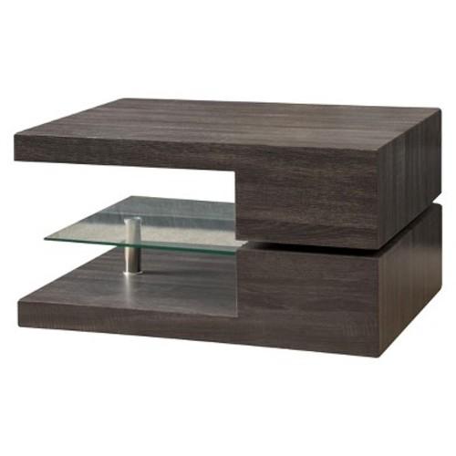 Michael Rectangular Rotating Coffee Table Black Oak - Christopher Knight Home