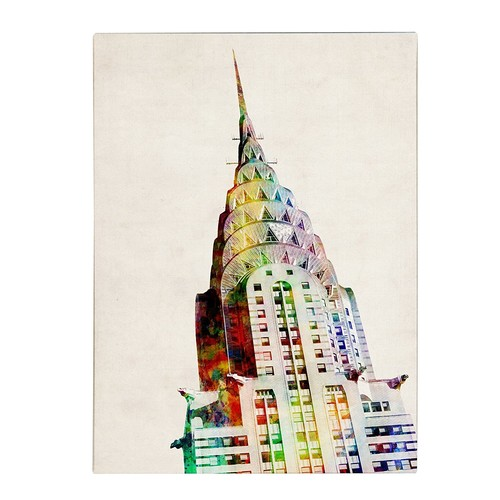 Chrysler Building by Michael Tompsett, 18 by 24-Inch Canvas Wall Art [18 by 24-Inch]
