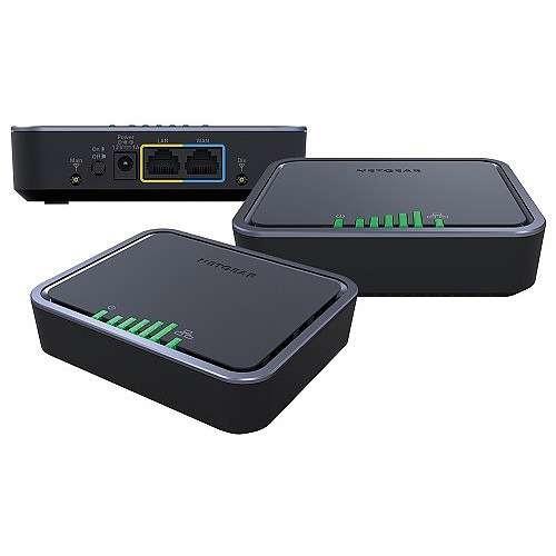 Netgear 1121 Wireless Cellular Modem - 4G Generation, LTE, UMTS, HSPA+, Gigabit Ethernet, VPN Support, PoE - LB1121-100NAS