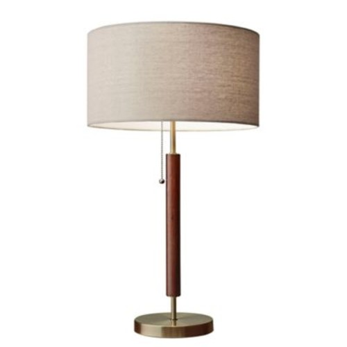 Adesso Hamilton Table Lamp in Walnut