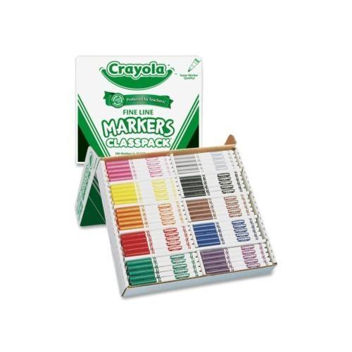 Crayola Non-Washable Classpack Markers CYO588210